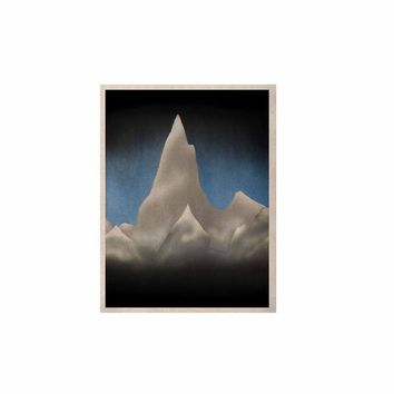"""Bruce Stanfield """"Snowy Mountains"""" Blue Teal Painting KESS Naturals Canvas (Frame not Included)"""