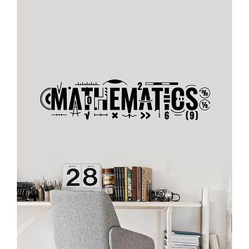 Vinyl Wall Decal Lettering Mathematics Math Symbols School Decor Stickers Mural (g1760)