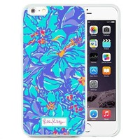 Durable and Fashionable Lilly Pulitzer 10 iPhone 6 Plus 5.5 inch White TPU Case