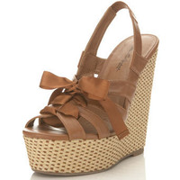 Wish Tan Tie Front Wedge - View All - Shoes - Miss Selfridge US