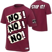 "WWEShop: Daniel Bryan ""NO NO NO"" Men's Authentic T-Shirt"