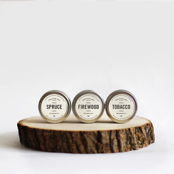 Man Candle Set - Firewood, Tobacco and Spruce