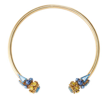 Elizabeth Cole Women's Logann Open Collar Necklace - Blue