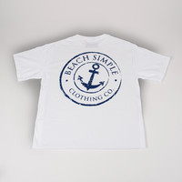 Classic Anchor T-shirt - White Crest