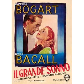 Big Sleep Italian Movie poster Metal Sign Wall Art 8in x 12in