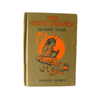 The Study Readers Second Year - Vintage Educational Reader - Illustrated Fairy Book - Learning To Read - 1920s Reader