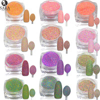 3g 3D Pigments Sequins Nail Sugar Glitter Dust Powder  Polish Gel Girl Color Dazzling Nail DIY Pearl Tips Deco #513-524