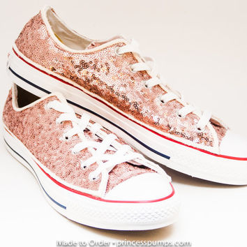 97f5a7e064649 Ruby Red Sequin Converse All Star Hi Top from Princess Pumps