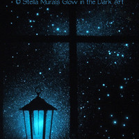 Glow in the Dark Star Poster - Lantern Night Light - Scorpius - Glowing Starlight Window for Astronomers and those who love the Stars