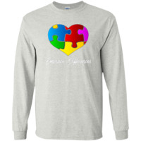 Autism Awareness Embrace Differences Autistic Support   LS Ultra Cotton Tshirt