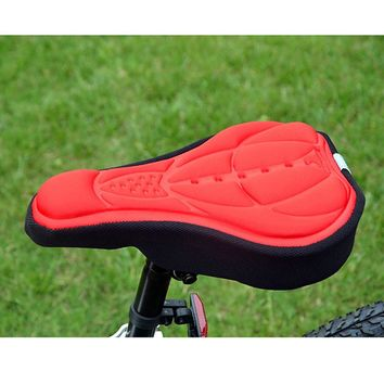 Cycling Bicycle Bike Cover Saddle Cover Seat Cycling Bike 3D Colorful Silicone Gel Pad Seat Saddle Cover Soft Cushion 4Colors