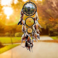 Brown Dreamcatcher with Feathers