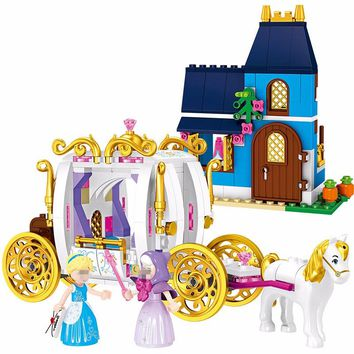 Funny Friends 25009 Duploe Princess Cinderella Pumpkin Carriage Building Blocks Compatible legoINGly 41146 DBP490