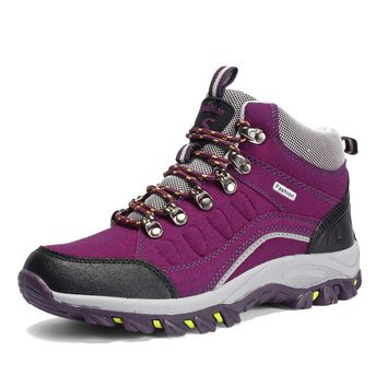 New Sneakers Women Hiking Shoes Outdoor Trekking Boots Climbing Sneakers Sports Rubber Sole Shoes Autumn Winter