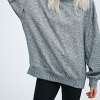 Sparkle & Fade Cocoon Sleeve Sweatshirt in Grey - Urban Outfitters