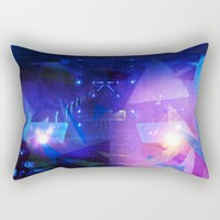 Abstract purple Triangles Rectangular Pillow by Christine Aka Stine1