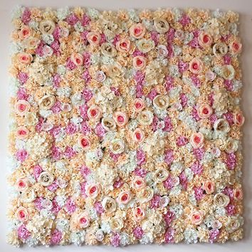 Artificial Silk Rose Flower Wall Decoration Decorative Silk Flower