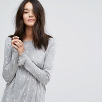 Vero Moda Star & Moon Pajama Top at asos.com