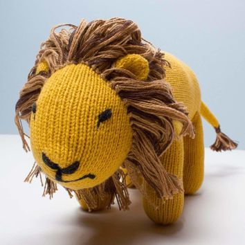 Stuffed Animal Toy, Handmade Lion