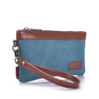 Ladies Spring Korean Female Retro Clutch Bags Long Section of the Packet Influx of Women Canvas Purse Women Wallets Women