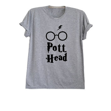 Harry potter shirt Lightning bolt glass womens mens tshirt graphic tee size XS S M L