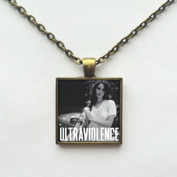 Lana Del Rey - Ultraviolence Album Cover Necklace OR Keychain