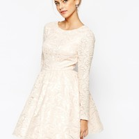 Chi Chi London Allover Sequin Mesh Prom Skater Dress