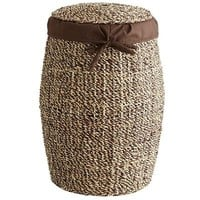 Seagrass Laundry Hamper with Liner & Lid