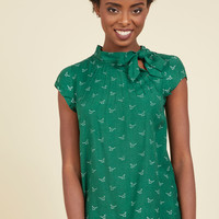 Up, Up, and Amaze Top in Dinos | Mod Retro Vintage Short Sleeve Shirts | ModCloth.com