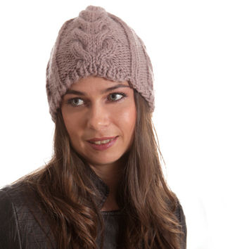 Knit Hat, Winter Hat, Women Hat, Men Hat, Unisex, Knitted Hat, taupe, beige, neutral, Wool Hat, Christmas Gift, street fashion