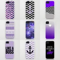 Free Shipping - Purple iPhone Cases by RexLambo
