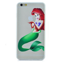 Disney Princess - Little Mermaid Ariel Holding Logo Clear Transparent Case For Apple Iphone 6 PLUS (5.5-Inch)
