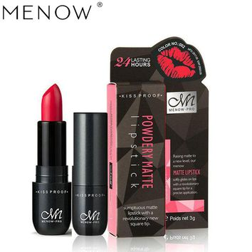 Menow Long-Lasting Lip Make Up Matte Lip Stick Color Cosmetics Pigment Sexy Red  Velvet Long Lasting Lipstick Matte Makeup