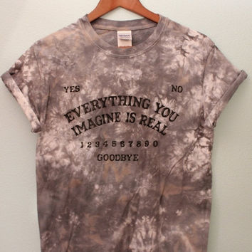 ON SALE Ouija Board Inspired (Dark Gray Marble) Tie Dye Unisex T-Shirt