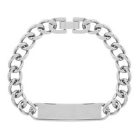 Inox Jewelry Men's Stainless Steel Engravable ID Bracelet