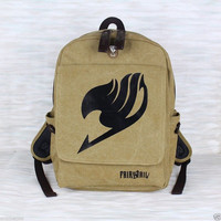 New Fairy Tail Cosplay Anime Canvas Bag Backpack School Bag