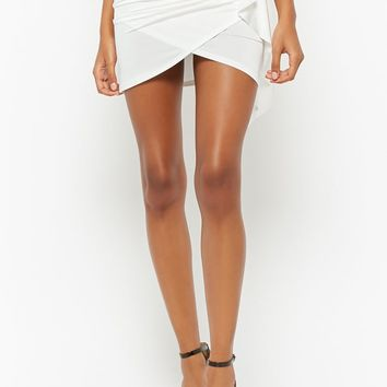 Ruffled Tulip Mini Skirt
