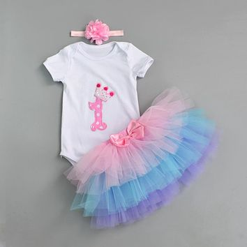 Fashion Baby Girl Birthday Clothing Set