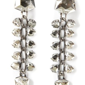 Lanvin chain and crystal earrings
