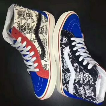 Vans Sk8-Hi 50th Ankle Boots Old Skool Canvas Flat Sneakers Sport Shoes G-CSXY