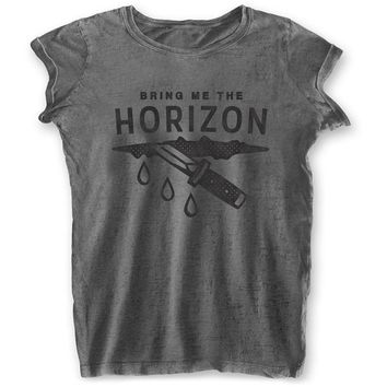 Bring Me The Horizon  Wound Junior Top Charcoal