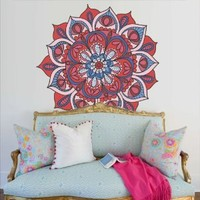 Full Color Wall Decal Mandala Model Map Ornament Star Buddha Yoga Flower Mcol31