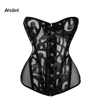 corset steampunk gothic style Bustiers for Women sexy corset top underbust Push up Chest Binder Waist Slimming Tummy Control