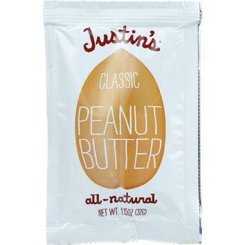 Justins Nut Butter Peanut Butter - Classic - Squeeze Pack - 1.15 Oz - Case Of 60