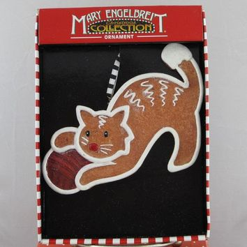 Mary Engelbreit Gingerbread Cat Ornament-ME0303-B