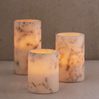 Flameless Marble Candle Set | Urban Outfitters