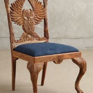 Handcarved Menagerie Owl Dining Chair by Anthropologie