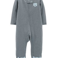 Zip-Up Bear Cotton Sleep & Play