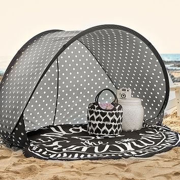 Black/White Polka Dot Family Pop-Up Tent