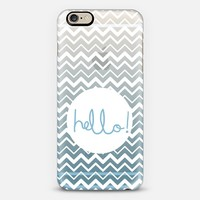 Hello Chevron Ocean iPhone 6 case by Emilee Parry | Casetify
